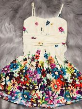 Womens Multicolored Floral Print Dress