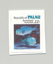 Palau #76 Fish, Parrotfish 1v Imperf Proof Mounted on Card