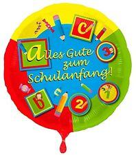 Folienballon Einschulung Alles GUte zum Schulanfang ABC 123, ca. 45 cm