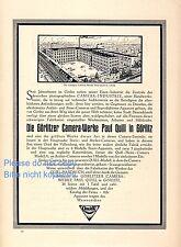 Camera usine Quill Görlitz Grande publicité de 1923 Caméra Photo industrie Publicité