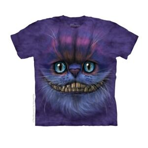 Big Face Cheshire Cat Adult T-Shirt Kitty Kitten Smiling Alice in Wonderland