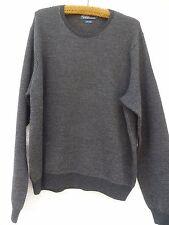 POLO Ralph Lauren Wool Sweater Men's XL 100% Wool Gray Crew Neck Long Sleeve
