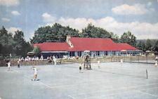 THE INN Tennis Club Courts Buck Hill Falls, Pennsylvania Postcard ca 1950s