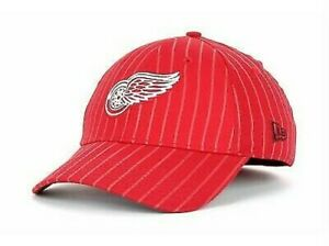 New Detroit Red Wings New Era 39Thirty Frozen Rope red Flexfit Hat S/M B153