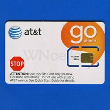 New AT&T GoPhone Standard Sim Card SKU 72287 3G ready for PrePaid Activation