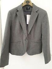 Oodji womans short slim fit single button  grey blazer sizs 38 (uk10)