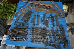 Lot HO Train Track Atlas TruScale 74 pieces switches straights curves crossings