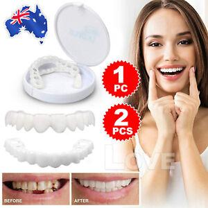 Snap On Bottom /Upper Lower False Teeth Dental Veneers Dentures Fake Tooth Smile