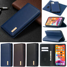 Luxury Wallet Real Leather Flip Case Cover For iPhone 12 11 Pro XR XS Max 8 Plus