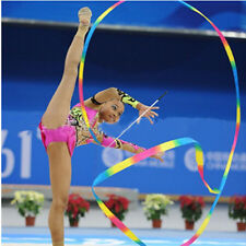 4m Kids Dance Ribbon Gyms Rhythmic Art Gymnastic Ballets Streamers Twirling Rod.