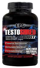EPG Testoshred 120 Capsules Powerful Test Booster, Stimulates Sex Drive