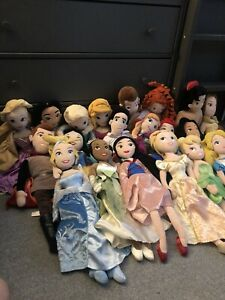 20 Disney Dolls/ Soft Toys In Mixed Condition