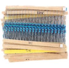 Widerstand Sortiment10 Ohm-1 MOhm Metallfilm 300 Stück 1/4W 0,25W 1% Widerstände