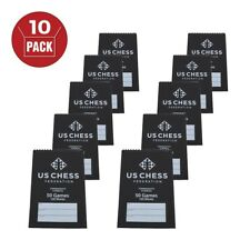 US Chess Federation's Commemorative Spiral Chess Scorebook - BLACK - (120 Moves/