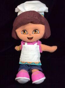 "Dora The Explorer Baker Chef Plush Soft Toy 12"" Stuffed Fisher Price Mattel 2005"