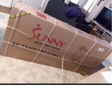 Sunny Health & Fitness Folding Treadmill with Device Holder Shock Absorption NEW