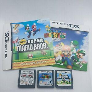 Super Mario Bros, Super Mario 64, Mario Kart - Nintendo Ds - Carts