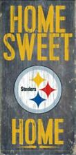 """Pittsburgh Steelers Home Sweet Home Wood Sign 12"""" x 6"""" [NEW] Man Cave Den Wall"""