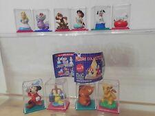 Walt Disney Tomy Yujin 10 x Figur mit Micky Maus, Alice, Aladdin,König der Löwen