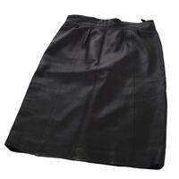 CHANEL Vintage CC Logos Skirt Black #38 France Authentic AK36790g