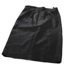 Authentic CHANEL Vintage CC Logos Skirt Black #38 France AK23591