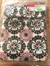 "Thirty-One 795D Pink Pop Medallion Tote-A-Tablet Padded Case Cover 10.5""x8"""