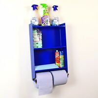 Shed Garage Workshop Shelving Storage Organiser Tidy Shelf - Blue Roll Holder