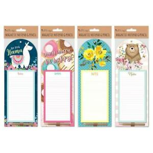 Just To Say Magnetic Notepad & Pencil - To Do List Shopping Fridge Magnet Pad