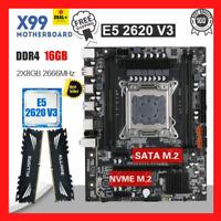 Kllisre X99 Motherboard Xeon E5 2620 V3 LGA2011-3 CPU 16GB 2666MHz DDR4 Memory