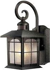 Motion Sensor Porch Light Outdoor Wall Lantern Lamp Fixture Exterior Glass Decor