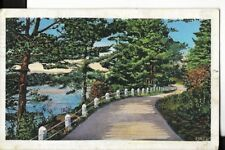 country road scene postmarked from park rapids minnesota 1938 postcard