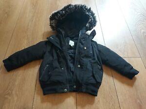 River Island Boys Jacket 9-12 months - Black Camouflage
