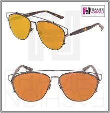 223a358e2fcd CHRISTIAN DIOR TECHNOLOGIC Ruthenium Pink Orange Flat Mirrored Sunglasses  Unisex