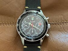 Vintage Le Jour Three Registers Valjoux 72 Manual Chronograph Fat Arrow Watch