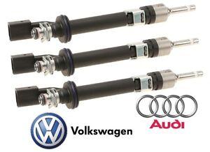 For Audi Q7 Volkswagen CC Passat Touareg 3.6 V6 Set of 3 Upper Fuel Injector OES
