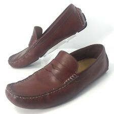 Cole Haan Howland Penny Loafers Mens Size 11.5M Saddle Tan Brown Driving Shoes