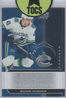 Quinn Hughes 2019-20 Trilogy Rookie Renditions Silver Parallel Vancouver Canucks