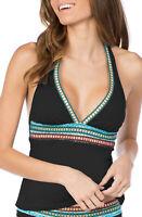 LA BLANCA Running Stitch Halter Tankini Top MSRP $95 Size 4 # U11 235 NEW