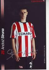 FOOTBALL repro photo joueur ANDRAZ STRUNA équipe CRACOVIA signée