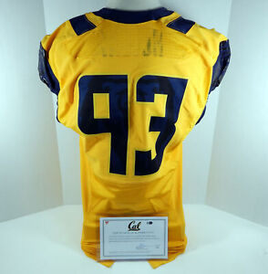 2015 California Golden Bears #93 Game Issued Yellow Jersey DP01117