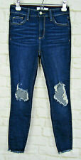 CELLO Jeans Jeggings Size 3 Dark Wash Distressed Denim Stretch Mid Rise