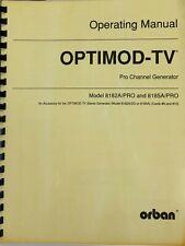 Orban Optimod Manual 8182A and 8185A PRO
