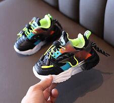 Baby Infant Kids Boys Sports Sneakers Walking Running Trainners Black Shoes US 8