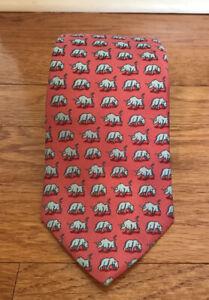 Vineyard Vines Custom Collection New York Stock Exchange NYSE Bull Bear tie silk