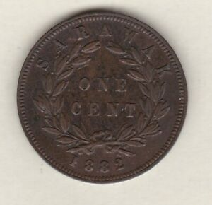 1882 SARAWAK ONE CENT IN VERY FINE OR SLIGHTLY BETTER CONDITION.