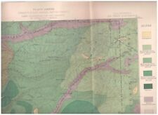 Big Trees region California 1891 color map Timber