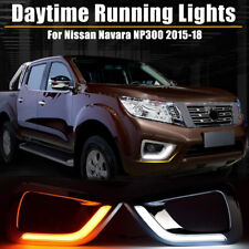 2x LED DRL Daytime Running Light Run Fog Lamp For Nissan Navara NP300 2015-18 !