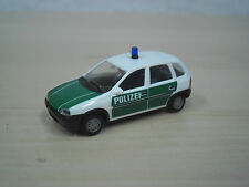 "Herpa - Opel Corsa B 5-türig ""Polizei"" - weiß / grün - Nr. 04229 - 1:87"
