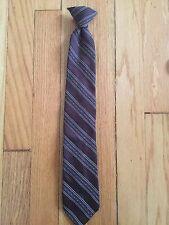 "Vintage Sears Boys Fashion Collection Perma-Prest Clip-on Tie 17 1/2"" Brown"