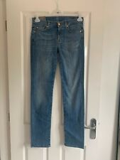 Blue 7 For All Mankind Jeans The Roxanne 28 Waist New with Tags